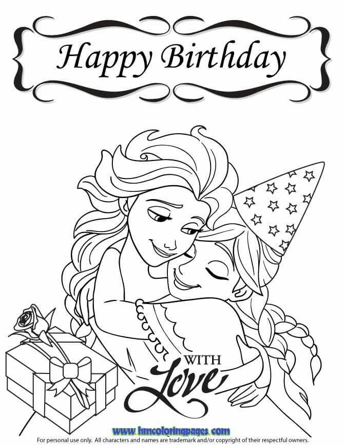 670x867 Happy Birthday Coloring Pages Disney For Boys Colouring In Cure