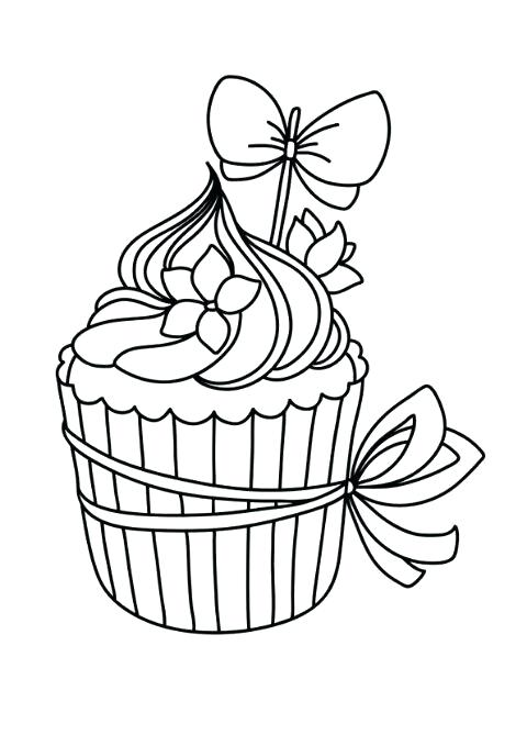 480x679 Cupcakes Coloring Cupcake Coloring Pages Birthday Cupcakes
