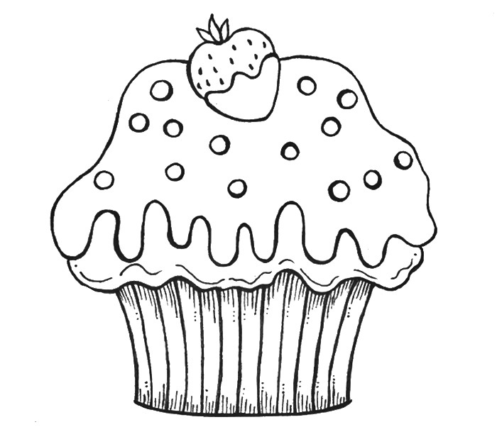 Birthday Cupcake Drawing at GetDrawings.com | Free for personal use ...