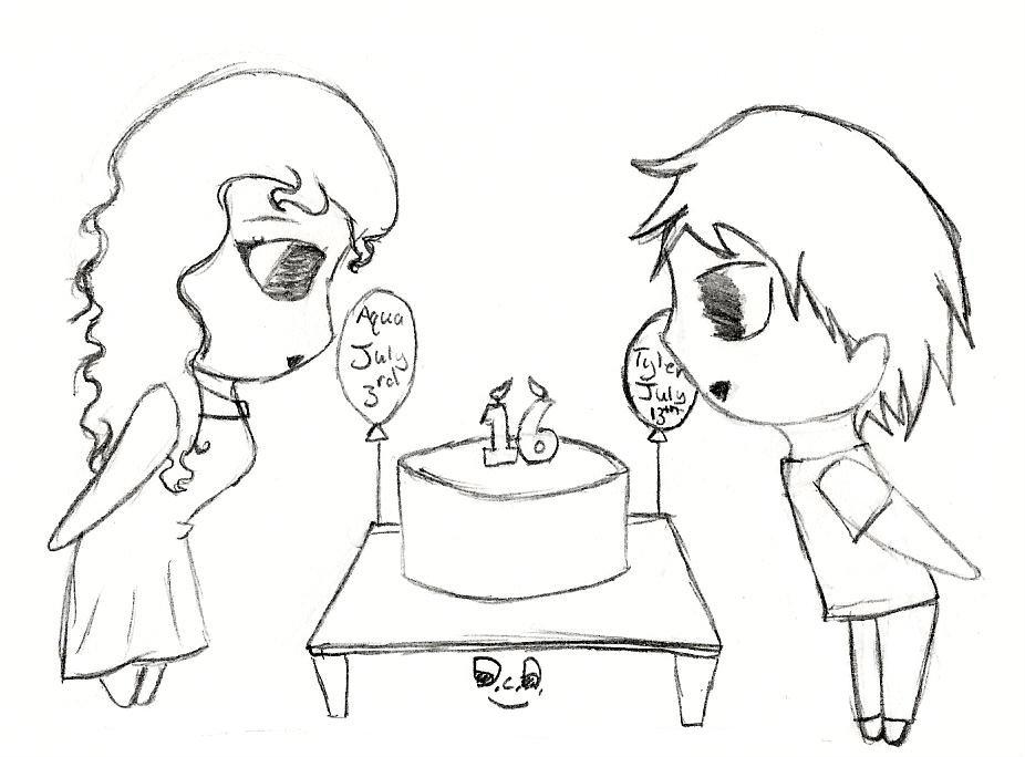 926x684 Birthday Drawing By Aquamajica
