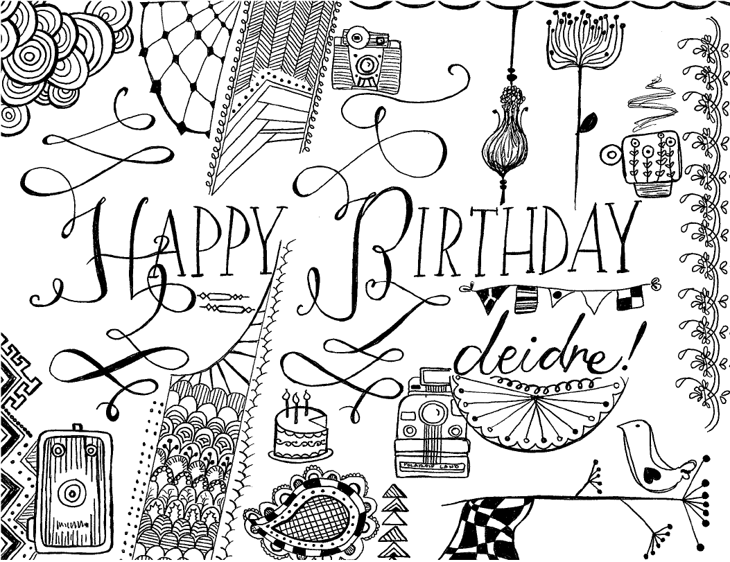 Birthday drawing at getdrawings free for personal use birthday 1053x811 birthday wishes laura hoerr bookmarktalkfo Gallery