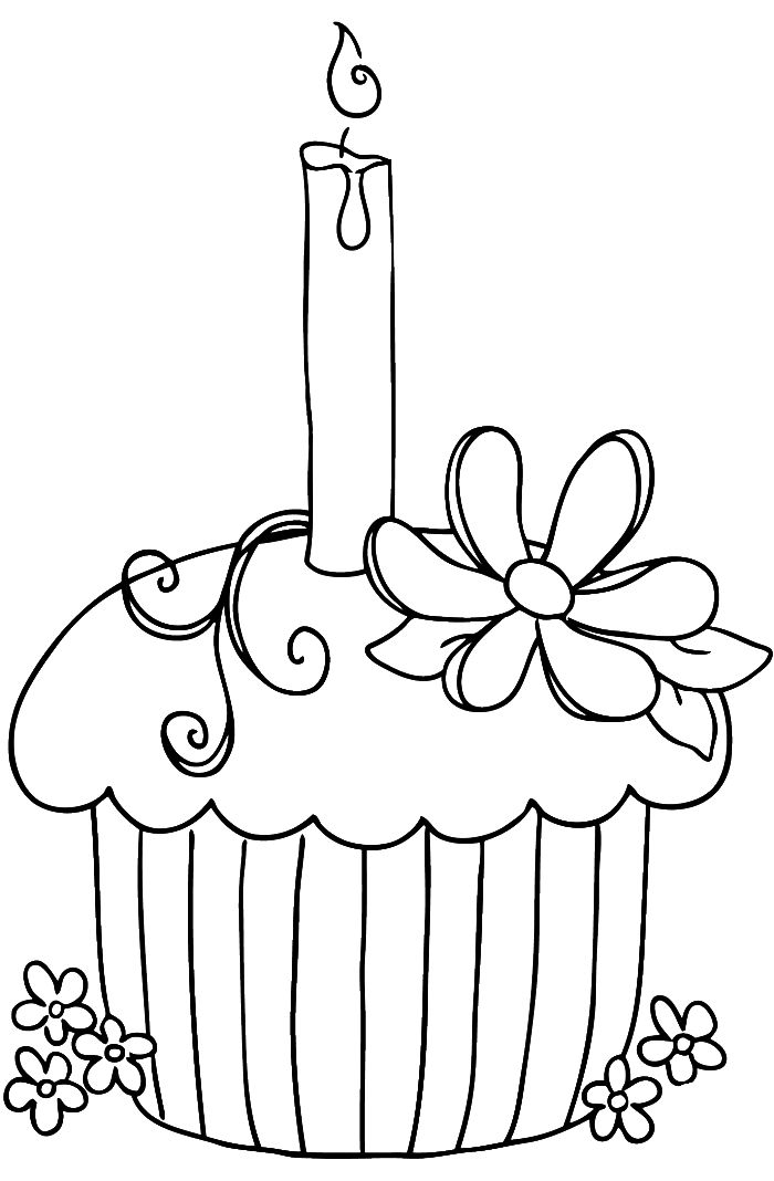 700x1068 Drawn Birthday Coloring Page