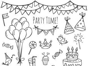 310x233 Hand Drawn Birthday Cake Card Free Vectors Ui Download