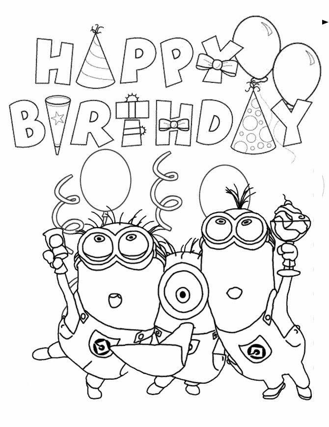 670x867 Happy Birthday Coloring Pages Disney For Boys Printable In Pretty