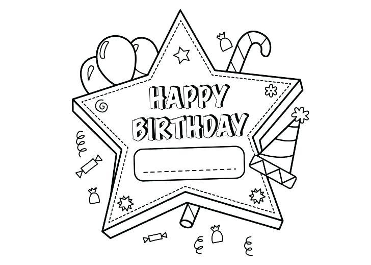 728x519 Birthday Coloring Cards Birthday Coloring Cards Happy Birthday