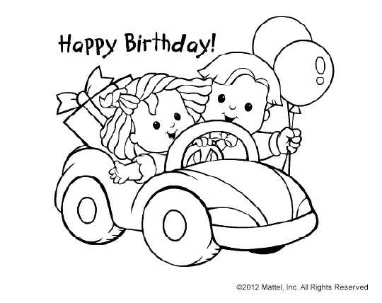 540x428 Cute Print Amp Color Birthday Cards
