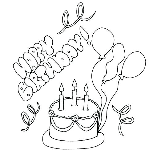 484x500 Happy Birthday Card Coloring Pages Pin Card Color 6 Happy Birthday