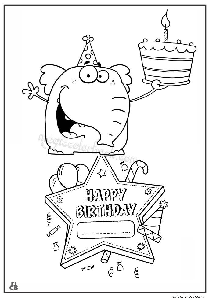 685x975 Happy Birthday Coloring Pages 10 Mewarnai Happy