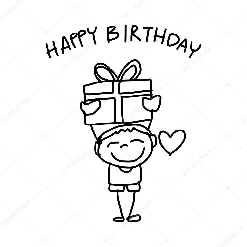 1024x1024 Happy Birthday Card Stock Vector Atthameeni