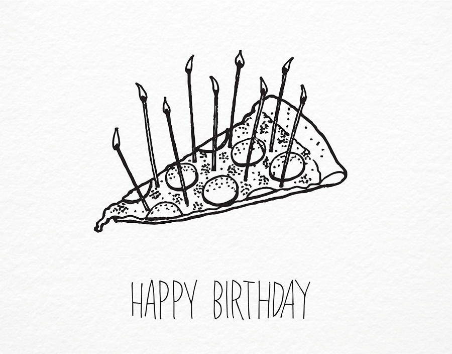 900x704 Pizza Birthday By Iron Curtain Press Postable