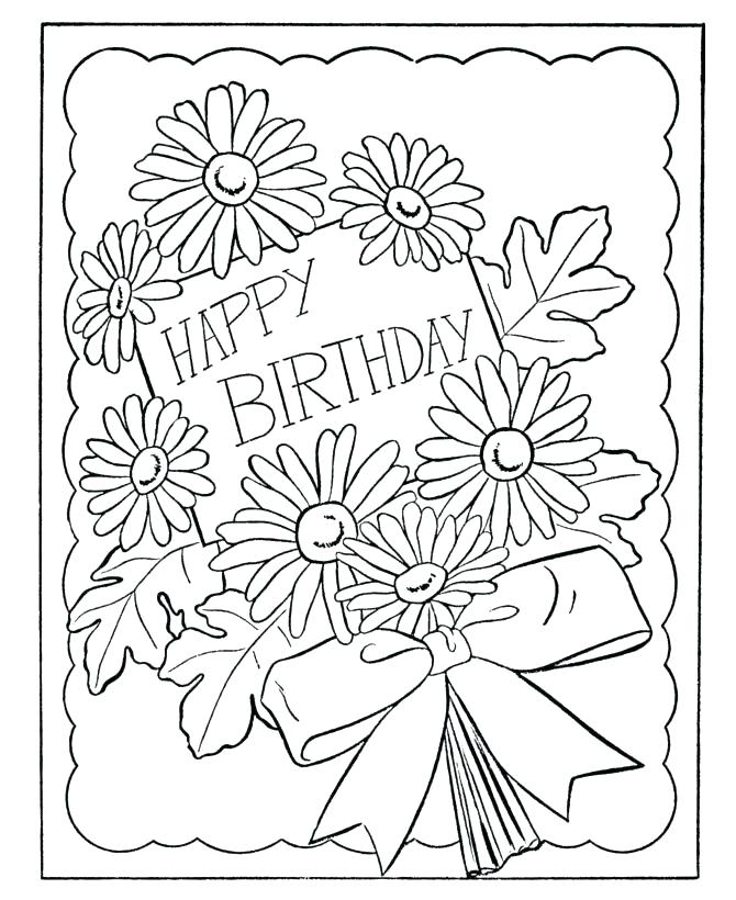 670x820 Birthday Color Book Plus Birthday Coloring Pages For Grandma Color