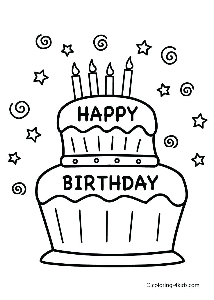736x1031 Birthday Party Coloring Page Birthday Coloring Pages Nice Design