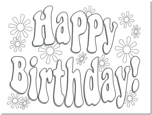 651x491 Coloring Page Birthday Card Printable Coloring Happy Birthday