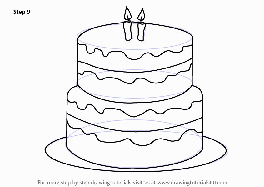 845x598 Awesome Birthday Cake Coloring Page Ideas Best Birthday Quotes