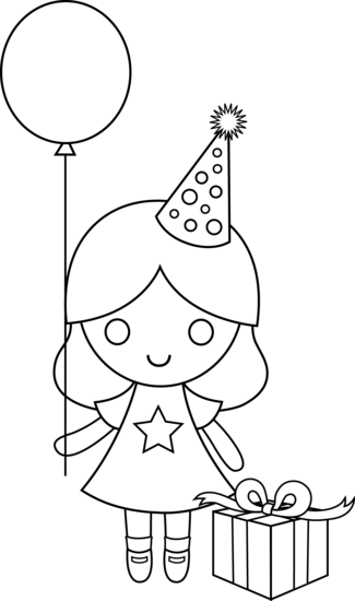325x550 Birthday Drawing For Kids Birthday Girl Coloring Page