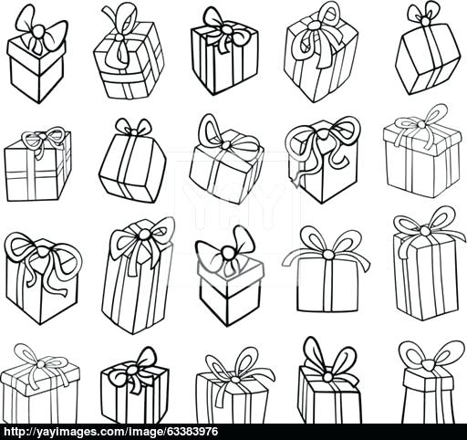 512x482 Amazing Birthday Present Coloring Page New Or Gifts Vector Pages