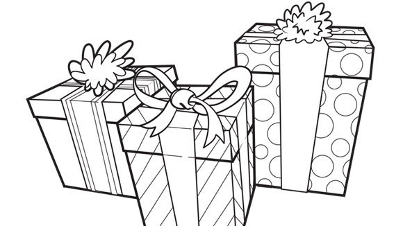 580x326 Coloring Pages Birthday Presents A Beautiful Coloring Pages