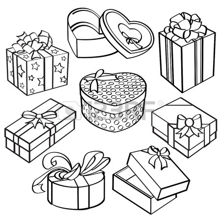450x450 Gift Box Collection Royalty Free Cliparts, Vectors, And Stock