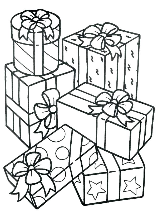 600x800 gifts coloring pages gift christmas tree with gifts coloring pages