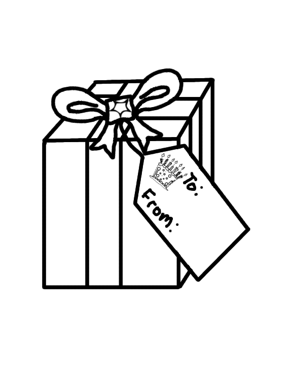 576x727 Gifts Presents Coloring Page