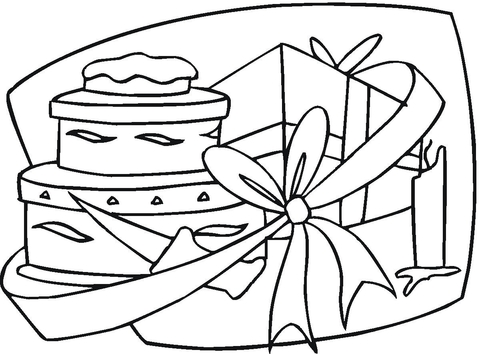 480x354 Happy Birthday Gift Coloring Page Free Printable Coloring Pages