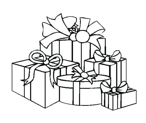 600x508 Present Coloring Page Gift Coloring Pages 2 Present Continuous