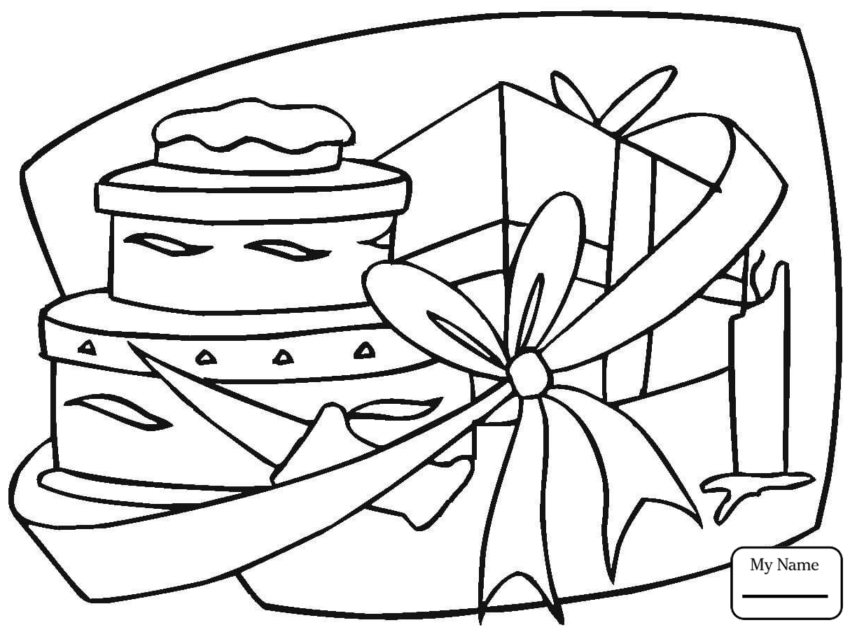 1224x903 Coloring Pages For Kids Holidays Happy Birthday Birthday Gift Box