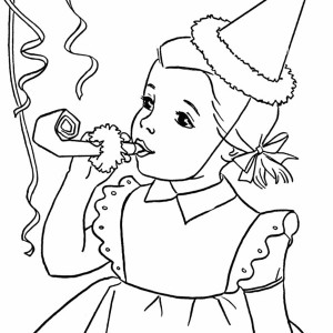 Happy Birthday Girl 300x300 Free Printable Coloring Pages