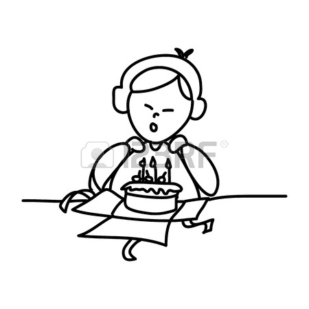 450x450 Hand Drawing Cartoon Happy Birthday Royalty Free Cliparts, Vectors