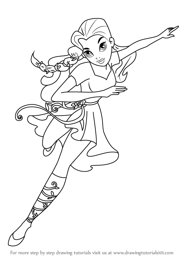 596x843 How To Draw Poison Ivy From Dc Super Hero Girls Step 0.png (596