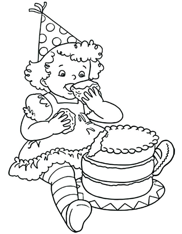 600x769 Birthday Girl Coloring Pages Coloring Girl Little Birthday Girl