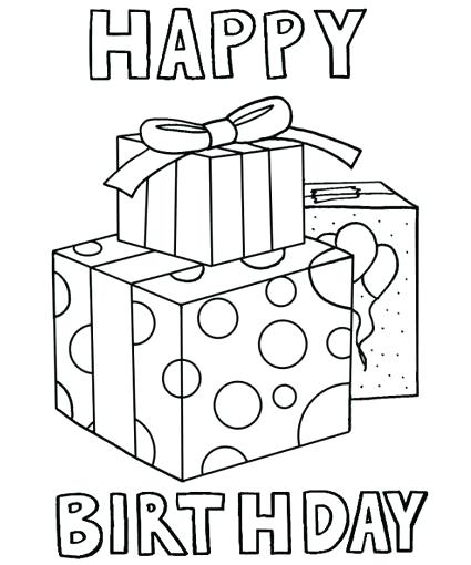 425x510 Amazing Happy Birthday Cards Coloring Pages Fee