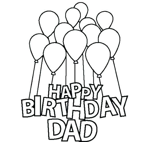 518x492 Happy Birthday Card Coloring Pages Birthday Printable Coloring