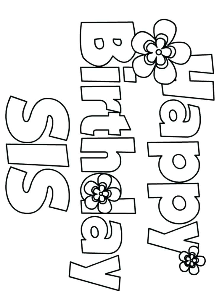 750x1000 Printable Happy Birthday Coloring Pages Happy Birthday Coloring