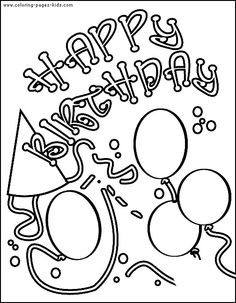 236x303 Printable Birthday Card Coloring Page First Grade Ideas