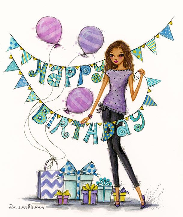 609x720 Bellapilarstudio Happy Birthday Happy Birthday