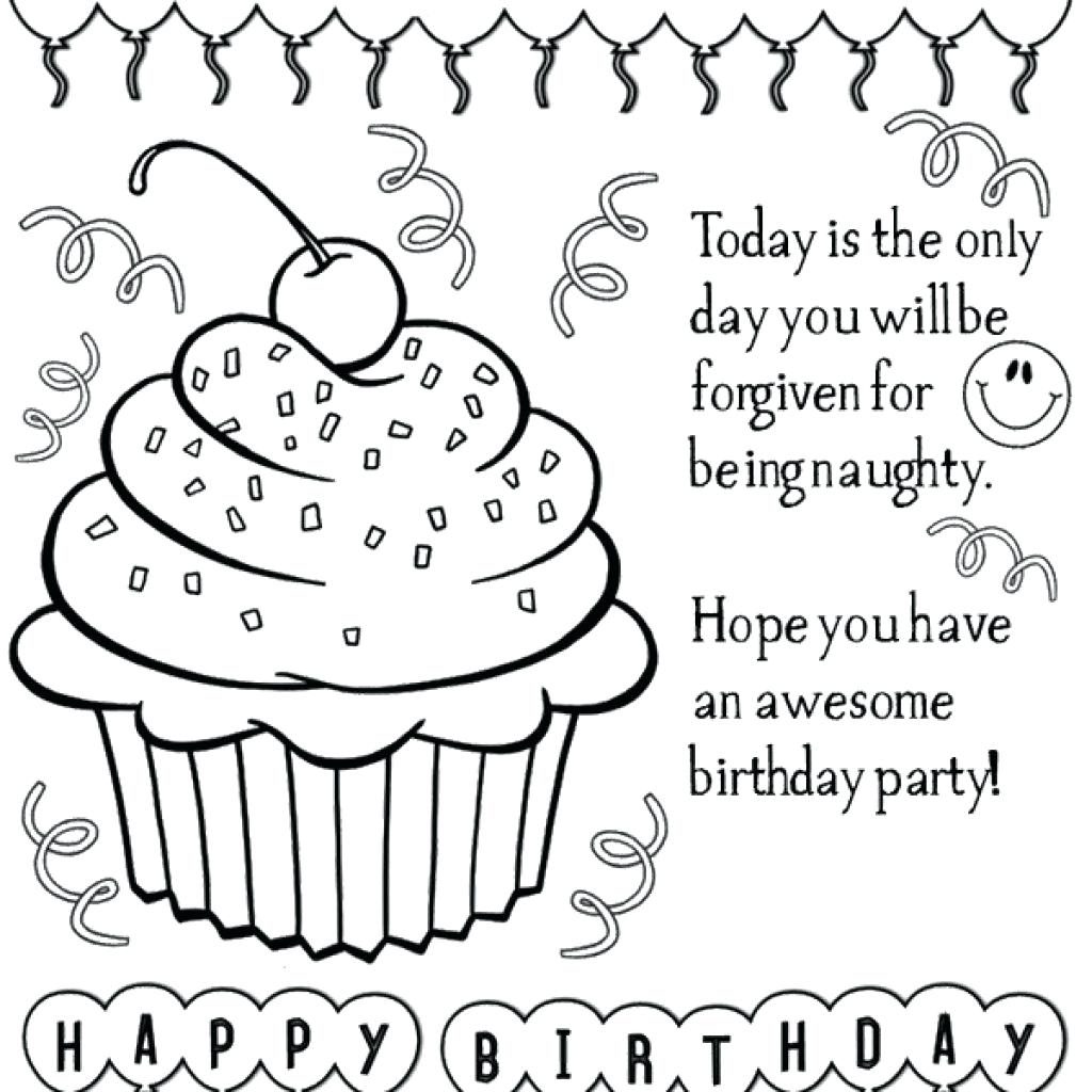 1024x1024 Coloring Coloring Pages Birthday Cards Amazing Printable Thank