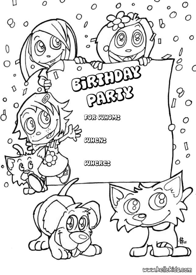 643x900 Birthday Card Coloring Page560310