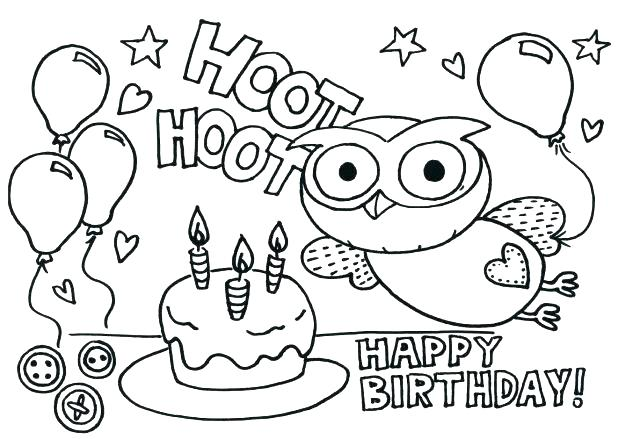 618x439 Birthday Card Coloring Pages Click The Happy Birthday Card