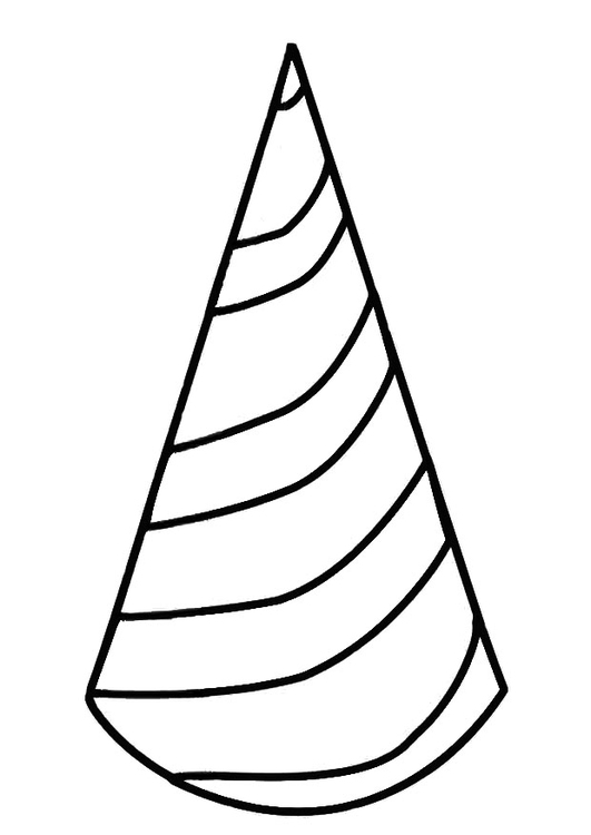 531x750 Coloring Page Birthday Hat