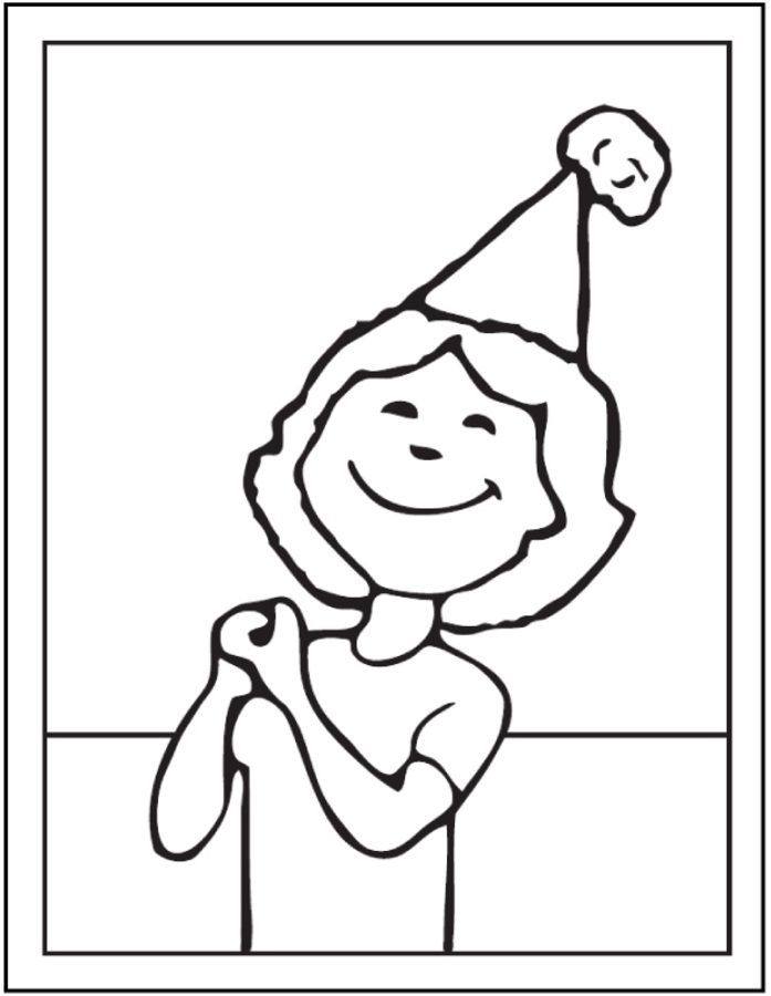 697x900 Coloring Pages Party Hats, Printable For Kids Amp Adults, Free