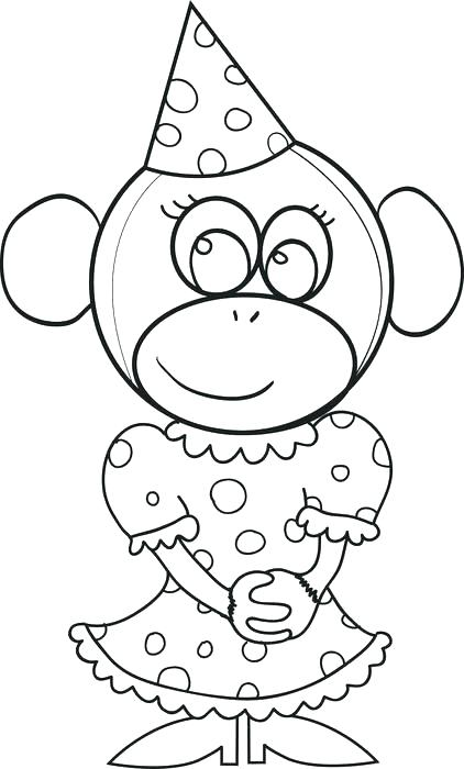422x700 Great Birthday Hat Coloring Page Free Download