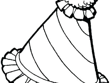 440x330 Great Birthday Hat Coloring Page Free Download 7 Welcome To Adobe