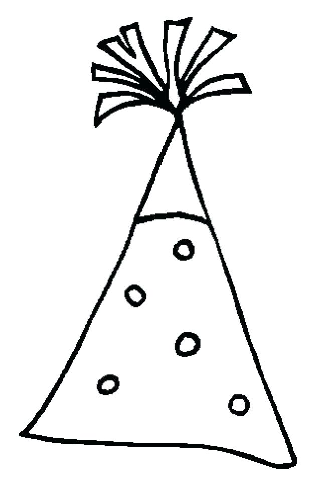 640x962 Party Hat Coloring Page New Years Eve Party Hat Use The Templates