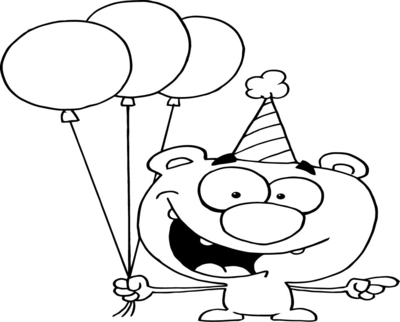 400x322 Party Hat Coloring Sheet Birthday Page Hicoloringpages