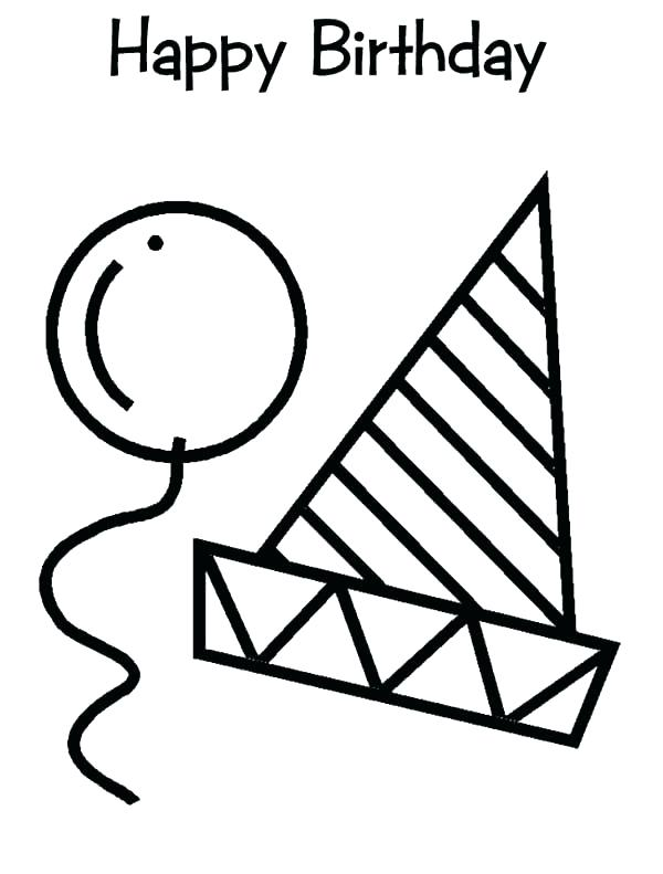 600x791 Hat Coloring Page