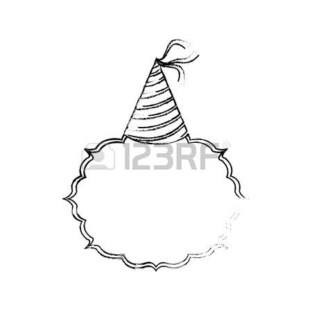 450x450 Birthday Hat Decoration Vector Illustration Graphic Design Royalty