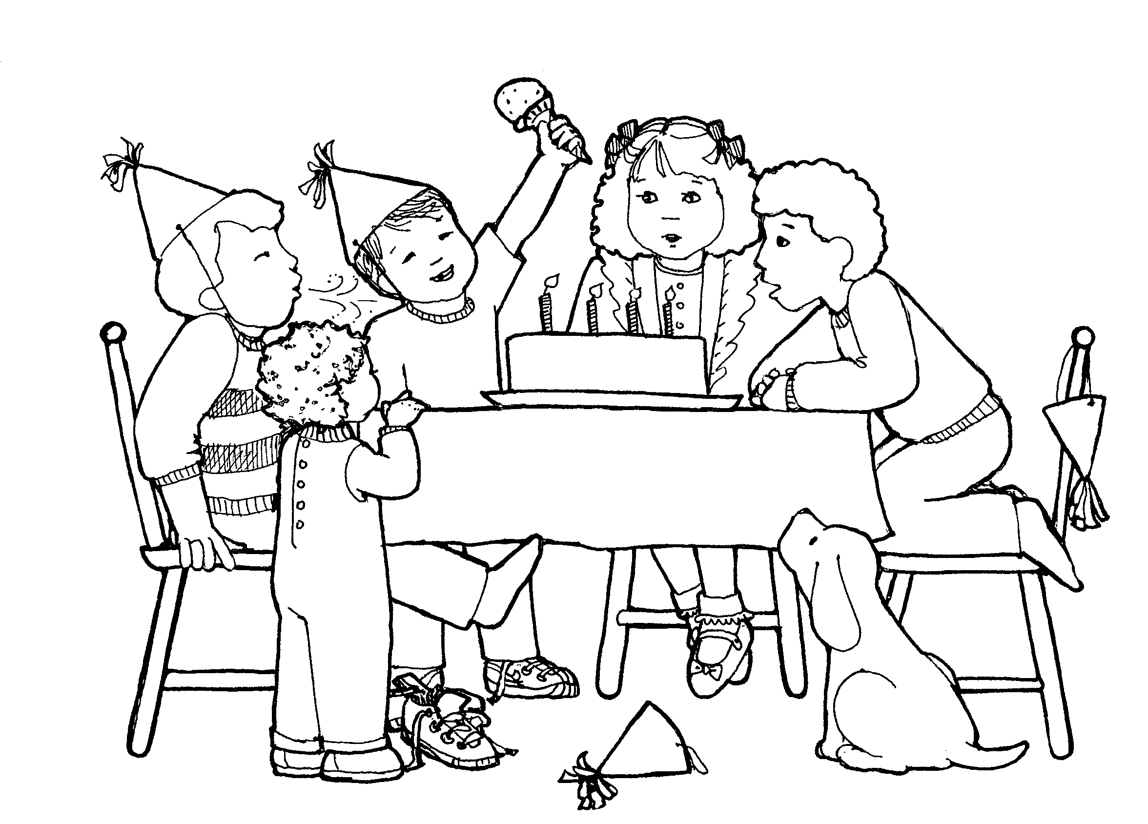 2352x1688 Birthday Party Scene For Drawing Girl Has A Birthday Party