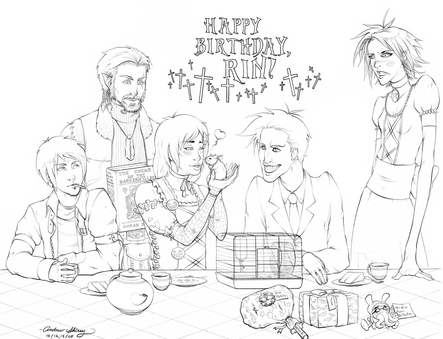 1533x1171 Drawing Pictures Of Birthday Party