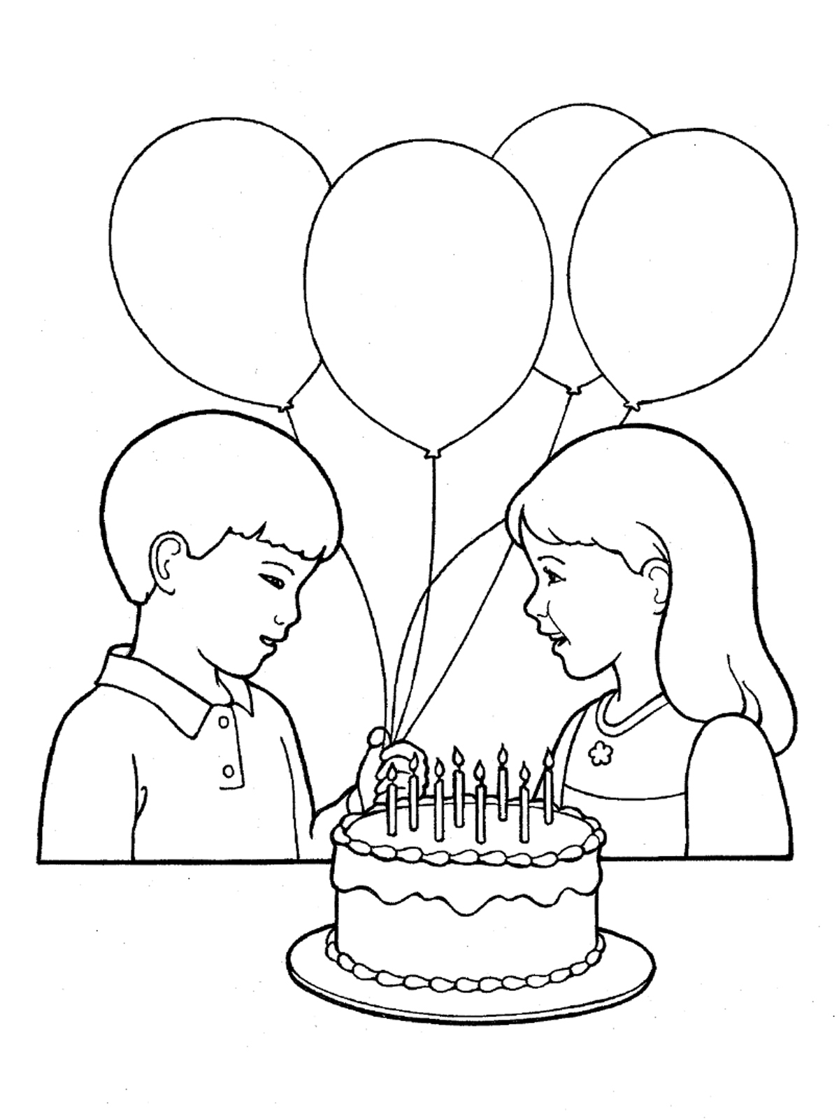 1200x1600 Drawing Pictures Of Birthday Party Primary Children Birthday
